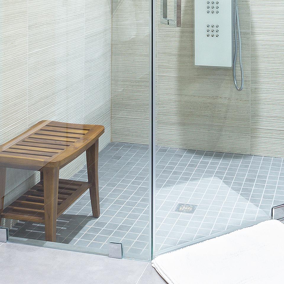 Modern Grey Master Bathroom