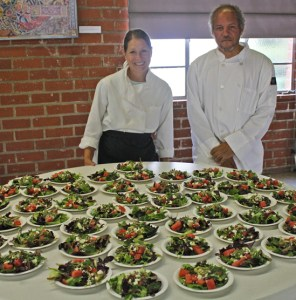 Salad Course at Faithfully Jazz event with Chef Michael.
