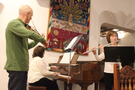 Ensemble Mira serenaded us in the Rancho La Puerta dining room.