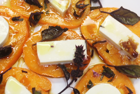 The olive oil and balsamic finish off the dish.