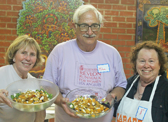 The Pumpkin Salad Team - Becky, Mike and Sara