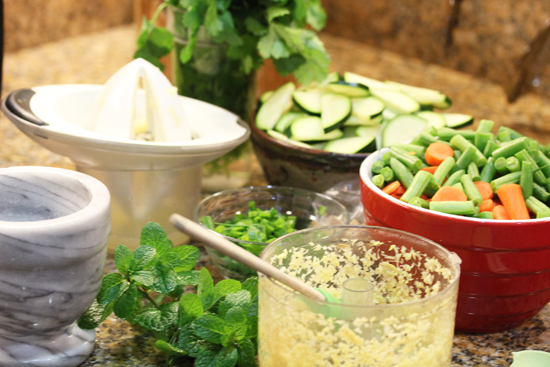 Cut all the vegetables and have ingredients prepped before cooking.