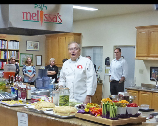 Master Preserver and Chef Ernest Miller gets our juices flowing.