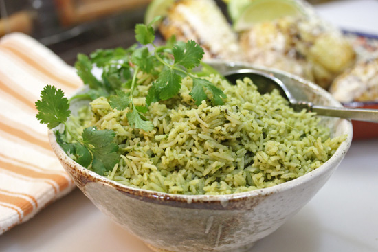 Green Rice with Cilantro and Spinach