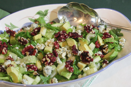 Waldorf Salad with Red Walnuts from Main Dish Salads class