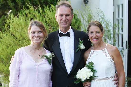 Ellen Woodyard, Chris Woodyard, Patricia K. Rose at Holy Nativity Episcopal Church. Photo by Jefferson Graham.
