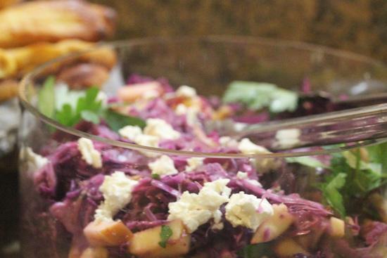 Warm Red Cabbage Salad recipe from FreshFoodinaFlash.com.