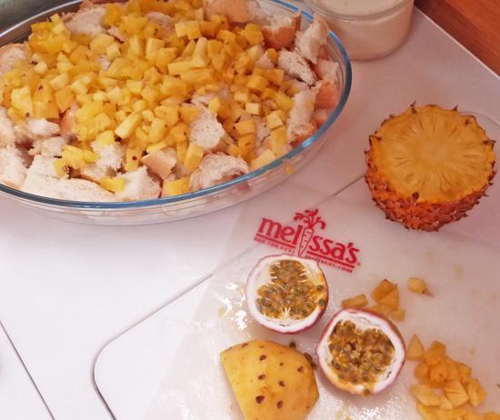 Pineapple Bread Pudding recipe at FreshFoodinaFlash.com