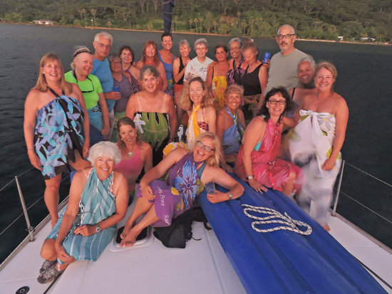 Sailing in Tahiti and French Polynesia with the Women's Sailing Association. More at FreshFoodinaFlash.com