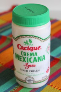 Cacique Crema Mexicana in recipe at FreshFoodinaFlash.com