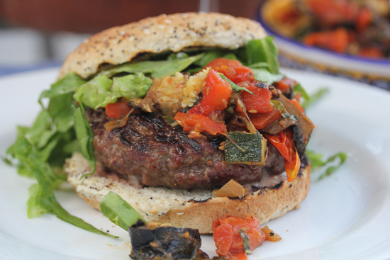Green Chile and Bleu Cheese Stuffed Burger recipe at FreshFoodinaFlash.com