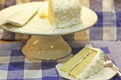 Coconut Cake made with fresh coconut