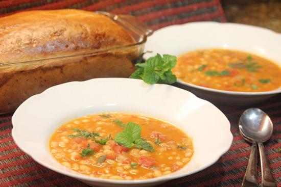 Bean, Bacon and Tomato Soup recipe at FreshFoodinaFlash.com