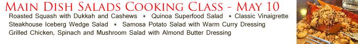 Main Dish Salads Cooking Class 5-10-17