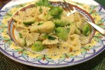 Bow Tie Pasta with Brussels Sprouts, Gorgonzola and Hazelnuts