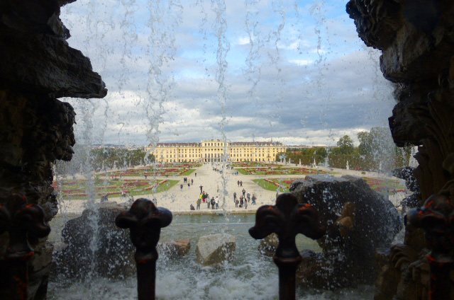 Schonbrunn Palace in Vienna; Wiener Schnitzel recipe at FreshFoodinaFlash.com.