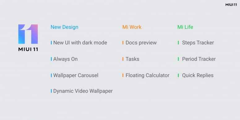 miui 11 all new latest features for all the devices which will receive the new latest update of miui 2019