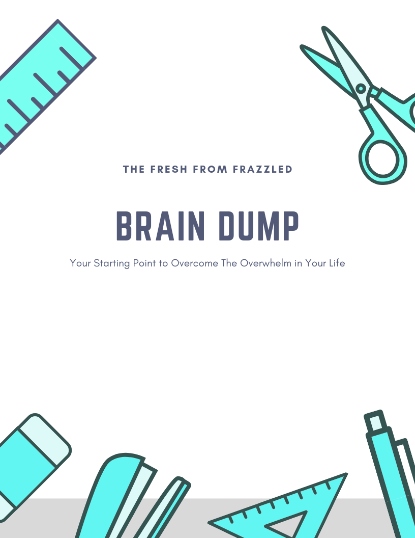 image about Brain Dump Template referred to as The Mind Dump: Your Setting up Stage - Clean against Frazzled