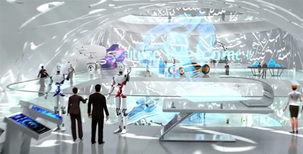 In Dubai Bouwt Men Het Museum Van De Toekomst