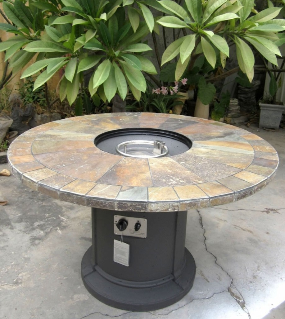 Outdoor Natural Slate Fire Pit Outdoor Dining Table ... on Outdoor Dining Tables With Fire Pit id=62035
