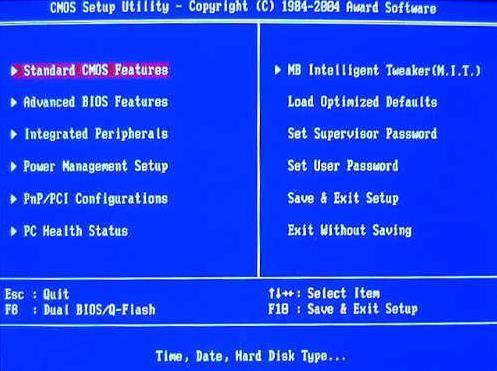 Sådan indtaster du BIOS i Windows 7