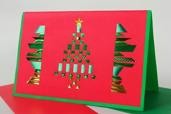 100 Schne Weihnachtskarten Selber Basteln
