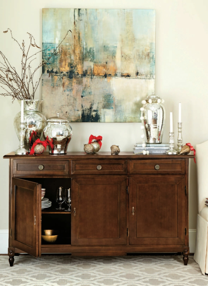 Decorating Vintage Buffet