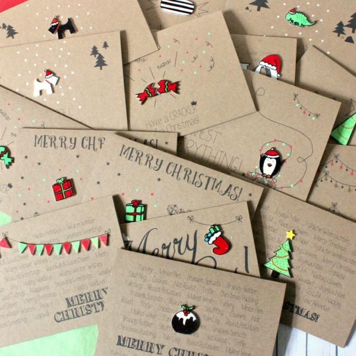 Weihnachtskarte Selbst Gestalten 42 Aufregende Ideen Fr
