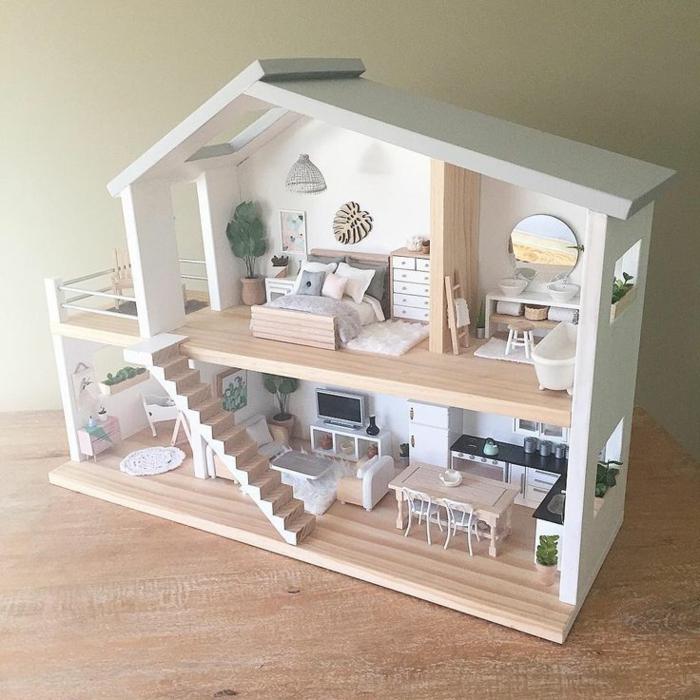 Maison De Poupe En Bois Ides DIY Pour Faire Heureux