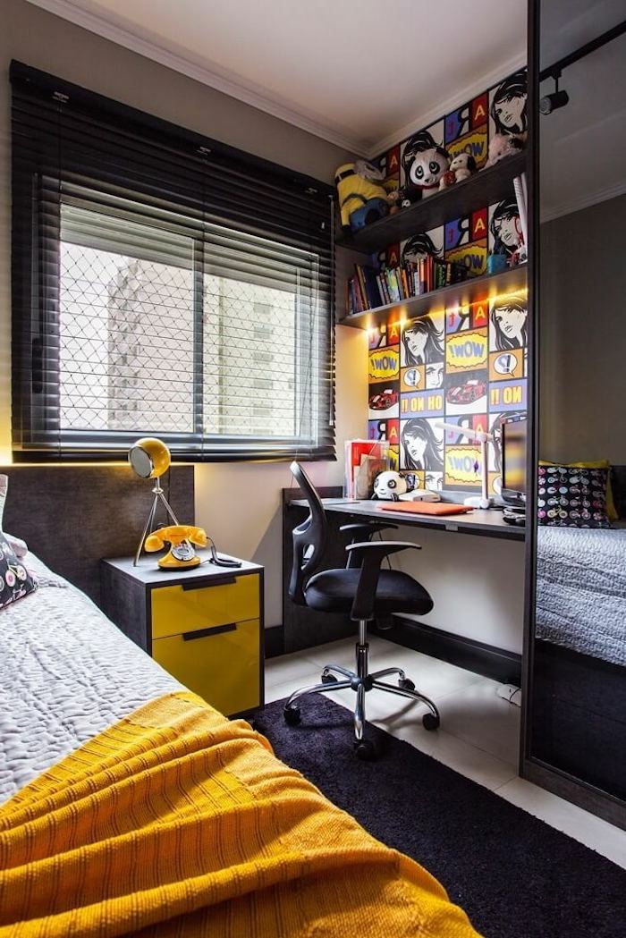 idee deco chambre ado motifs series animees