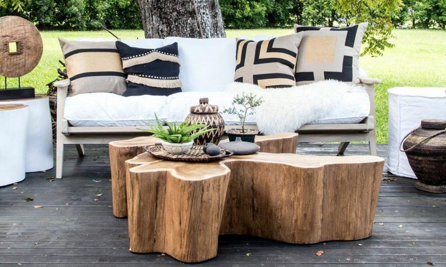 table basse tronc d arbre projet diy