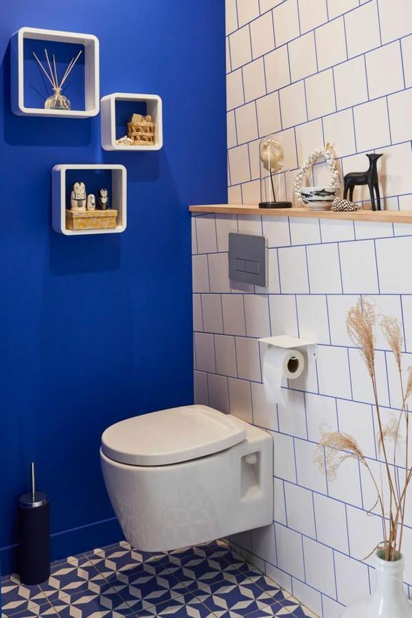 Peinture Toilette Bleu | Kapokto