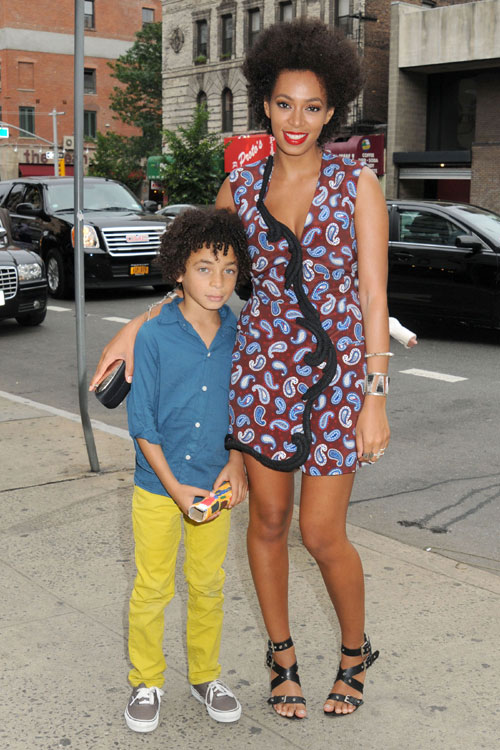 Daniel Julez and mom Solange Knowles at Stella McCartney NYC show