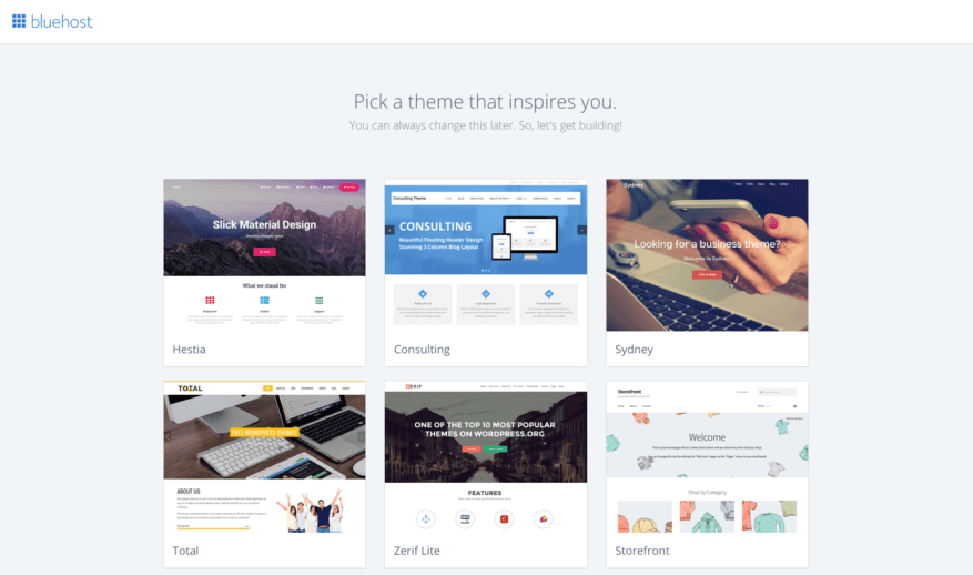 Bluehost WordPress Theme