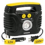 Kensun Durable Easy-to-Operate Dual Power Portable Tire Inflator Air Compressor
