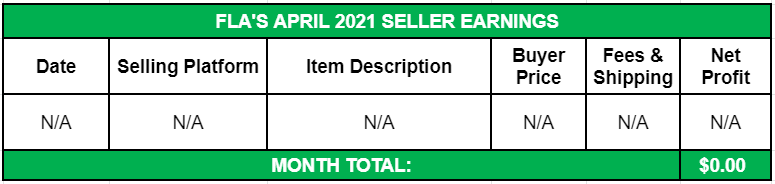 April Side Income 2021 Seller Earnings