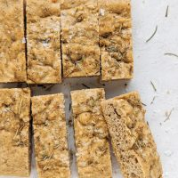 Easy Paleo Focaccia! (gluten free, grain free, dairy free, yeast free)
