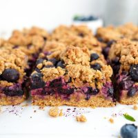 Blueberry Crumble Bars (paleo, nut free)