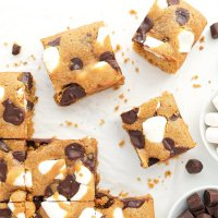 S'mores Cookie Bars (gluten free, nut free, dairy free)