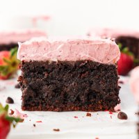 Brownies & Strawberry Frosting (paleo & nut free)