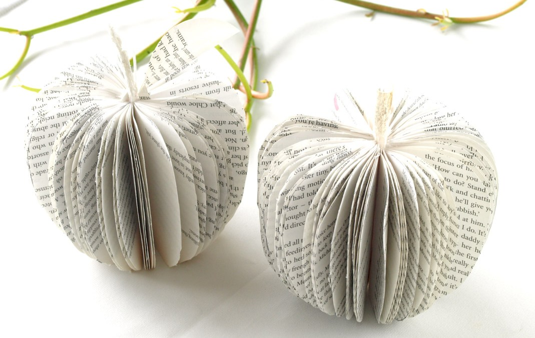 Paper Apples – handcrafted from books