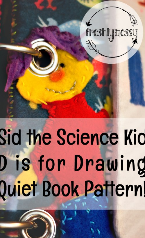 d is for draw quiet book 2
