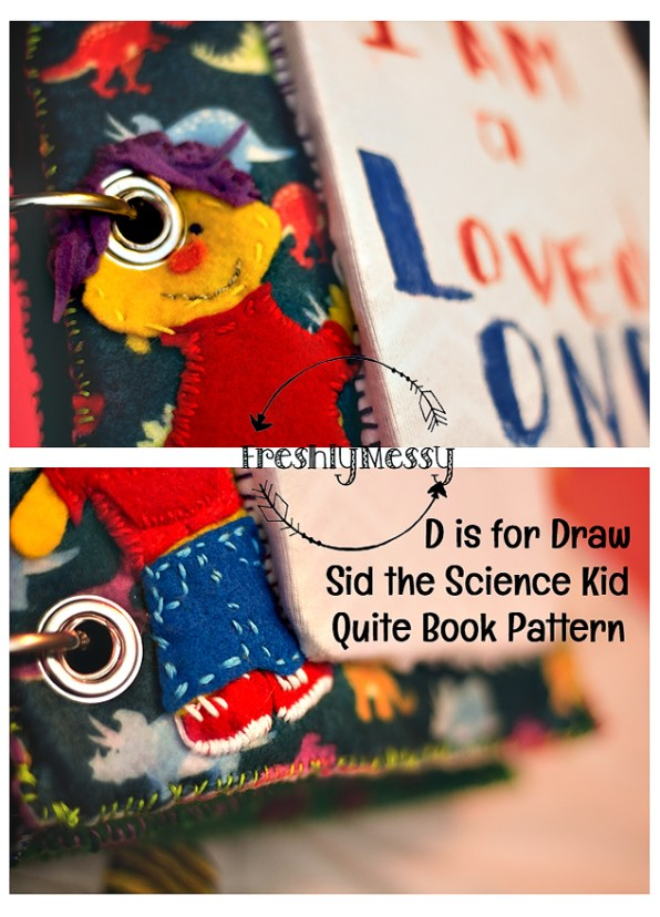 d is for draw quiet book 3