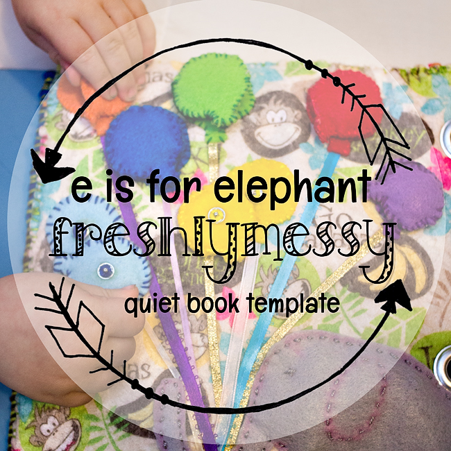 e is for elephant quiet book 3