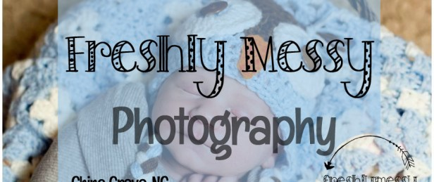 freshly messy photography button