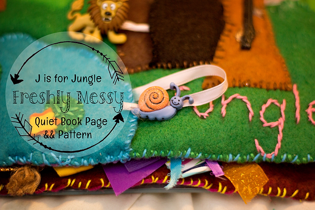 j is for jungle quiet book 2