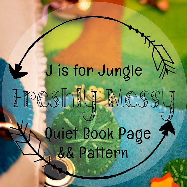 Learning the Letter J with a Jazzy Jungle Quiet Book Page