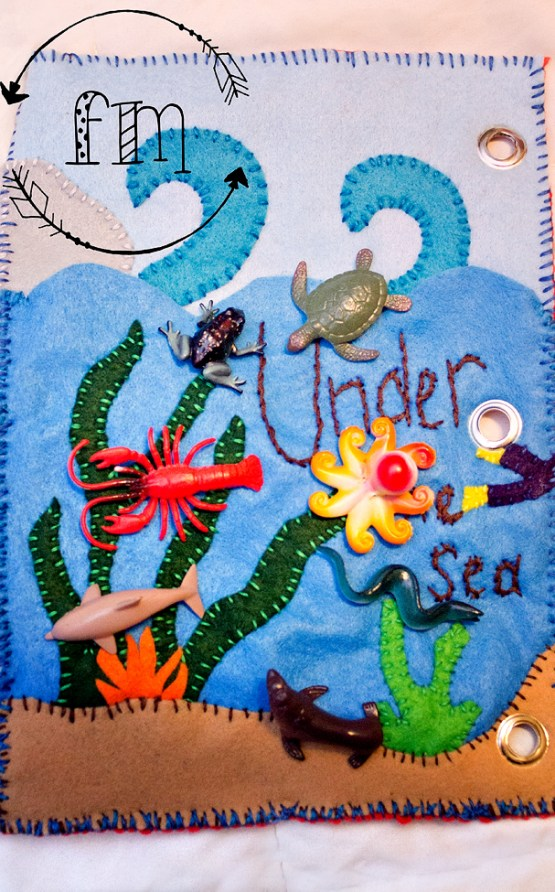 u is for under the sea quiet book 2