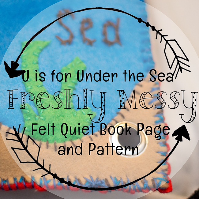 Learning the Letter U with an Under the Sea Quiet Book Page