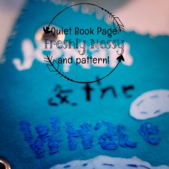 w is for whale quiet book 3